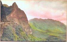 1910's Nu'uanu Pali Greetings from Honolulu H.T. Hawaii Tinted RPPC