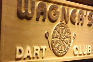 wpa0059-Name-Personalized-Dart-Club-Beer-Bar-Game-Room-3D-Engraved-Wooden-Sign
