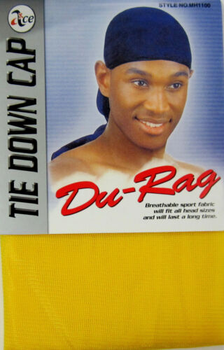 TIE DOWN CAP ALL,BREATHABLE-MH1100 LOT OF 3 --SOFT POLYESTER DURAG ONE SIZE