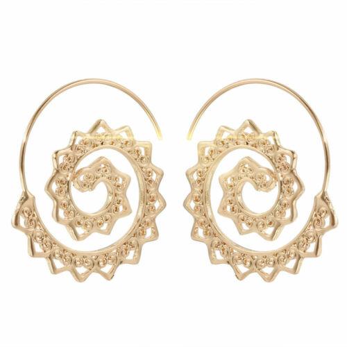 Fashion Jewelry Women Statement Boho Metal Alloy Geometric Dangle Drop Earrings