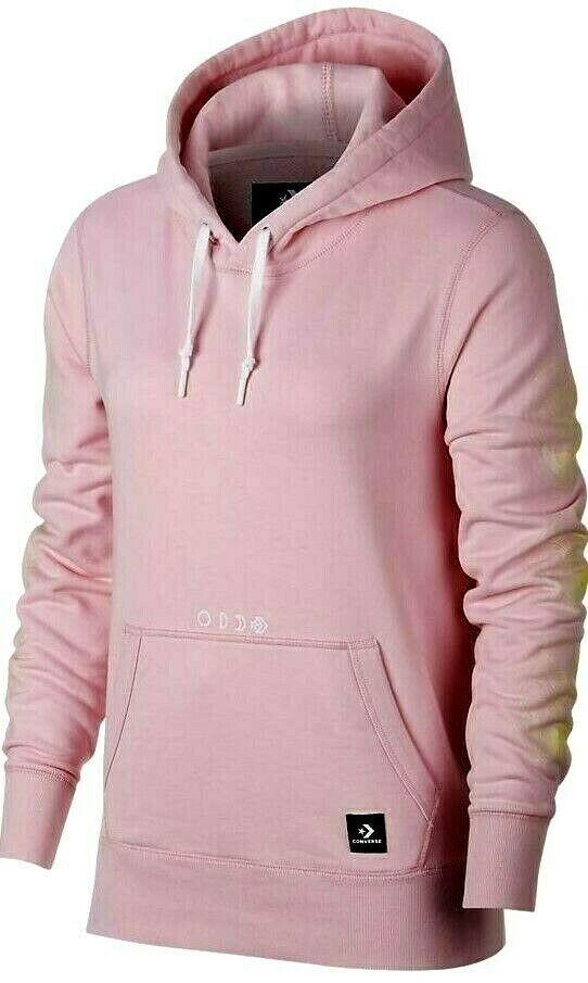 Converse Jacket Sweater Ladies Hoodie Pink Essentials Solar Sweater NEW Size XS