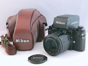 🟢 exc+5 lesen 🟢 Nikon f3 AF SLR Film Camera + AF Nikkor 80mm f/2.8 aus Japan 746