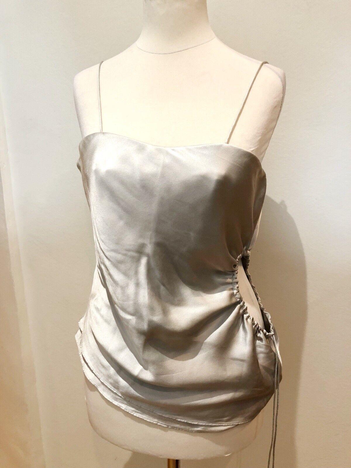 Giorgio Armani Collection grau Silk Corset Top