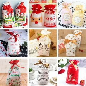 new list discount sale arrives Details about Christmas Birthday Party Drawstring Candy Cookies Baking  Present Gift Bags Wrap