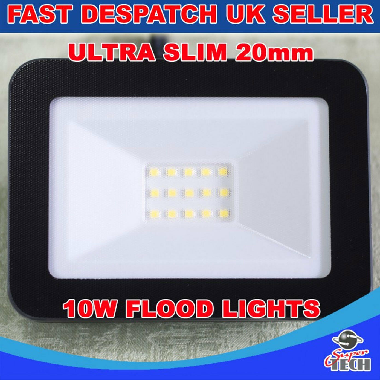 10-100 W ULTRA SLIM 20 mm LED Flood, Spot luce impermeabile in alluminio Cool Bianco