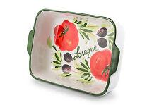 BASSANO Ofenfeste Lasagne Backofenform Auflaufform italienische Keramik  24x17