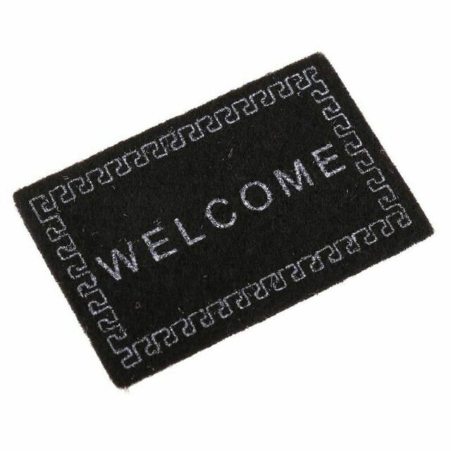 Doll House Miniature carpet WELCOME Mat Dollhouse Accessories Home & Living O7L2