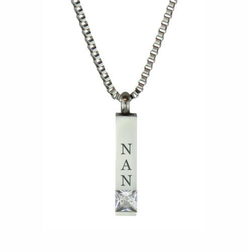 Engraving Nan Quantum Crystal Urn Pendant Cremation Jewellery Memorial Ash