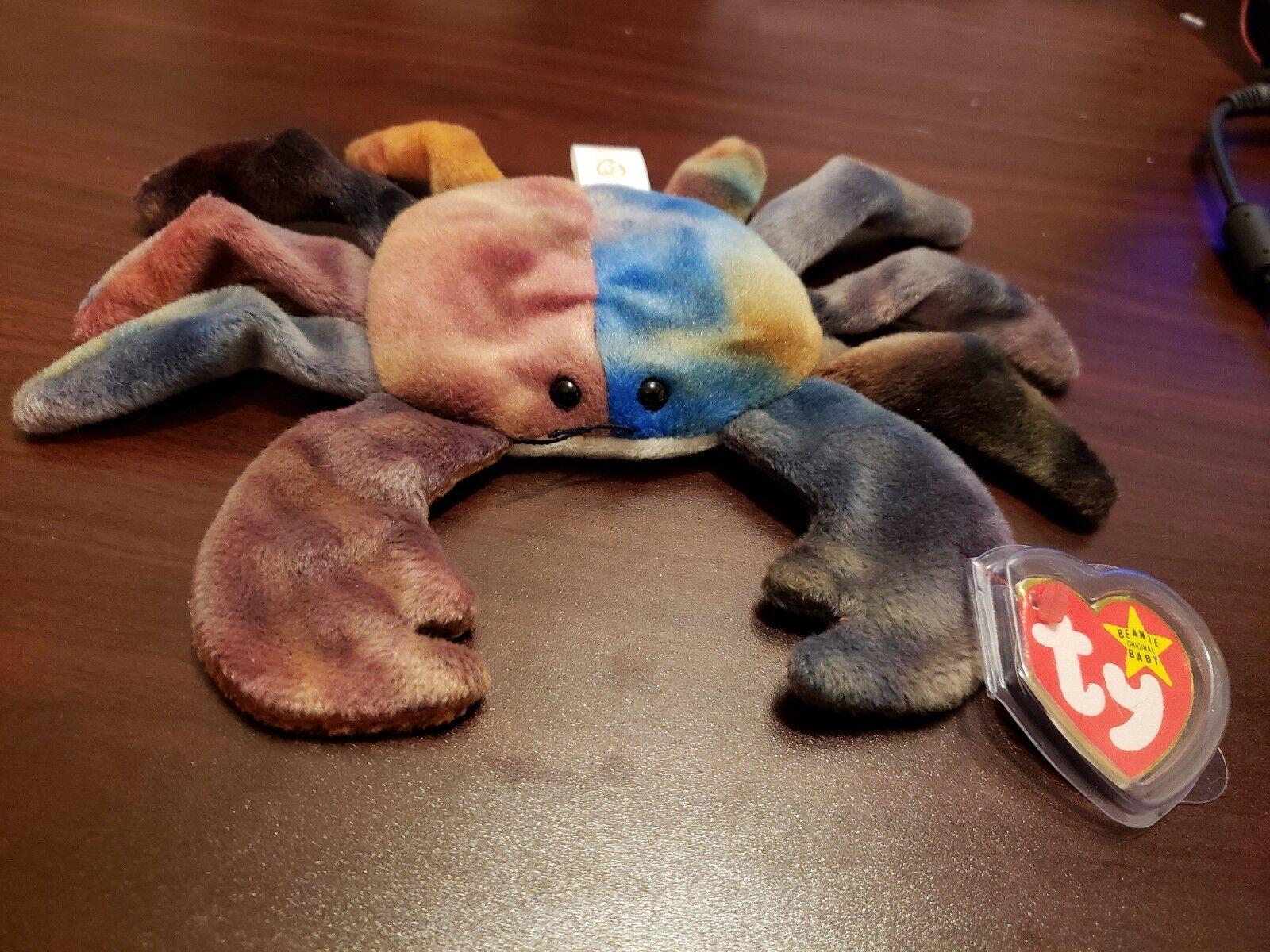 Ty inc - beanie babys - claude crab minze mit fehlern