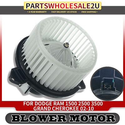 HVAC Blower Motor Fan Assembly for 2002-2008 Dodge Ram 1500 2500 3500 Jeep Grand Cherokee 700012 5012701AB