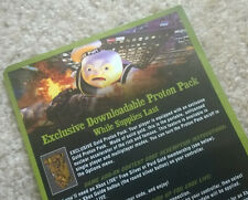 """Ghostbusters Video Game """"Gold Proton Pack"""" VOUCHER CARD + download code Xbox 360"""