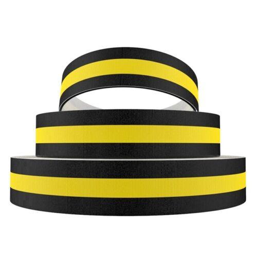4269 negra//amarilla 15mm ancho grosgrain