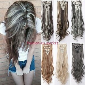 100-Natural-Clip-in-Hair-Extensions-8-Pieces-Full-Head-Long-New-as-Human-Hair