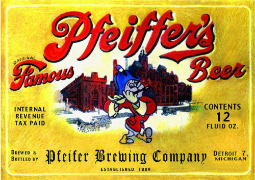 Pfeiffers Beer  Refrigerator Tool Box Magnet Man Cave