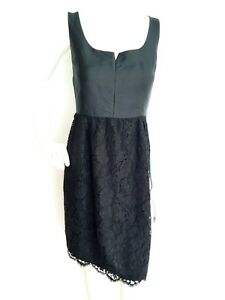Dress Bennett Taglia Lk Designer pizzo lana Black Twice di 14 Gonna used Shift Seta wIH5xSq