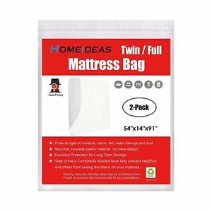 Mattress Bags 2 Pack Storage Cover Bag 2/3/4 Mil Heavy ...