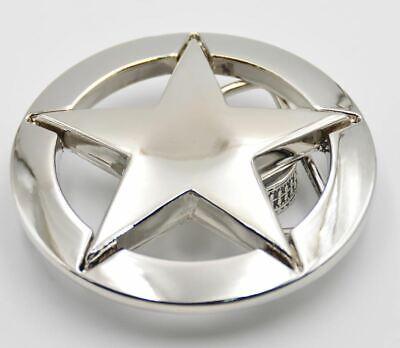 Aktiv Texas Star Gürtelschnalle Abzeichen Metall Tolle Details Sheriff Stern Emblem