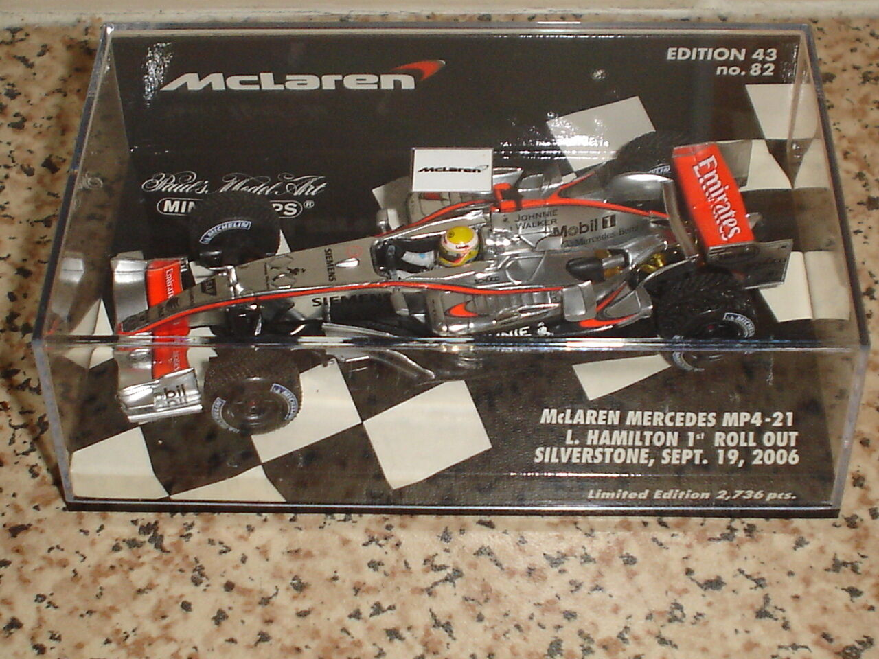 McLaren F1 Hamilton 1st.Roll Out 2006 - Ltd.Edition -1 43 - Rare & Collectable
