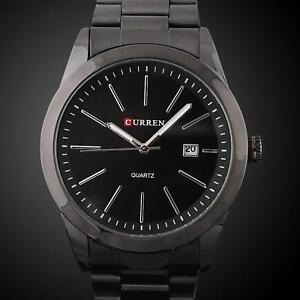 Luxus-Herrenuhr-Schwarz-Herren-Armbanduhr-Geschenk-Watch-UVP-59-U1720