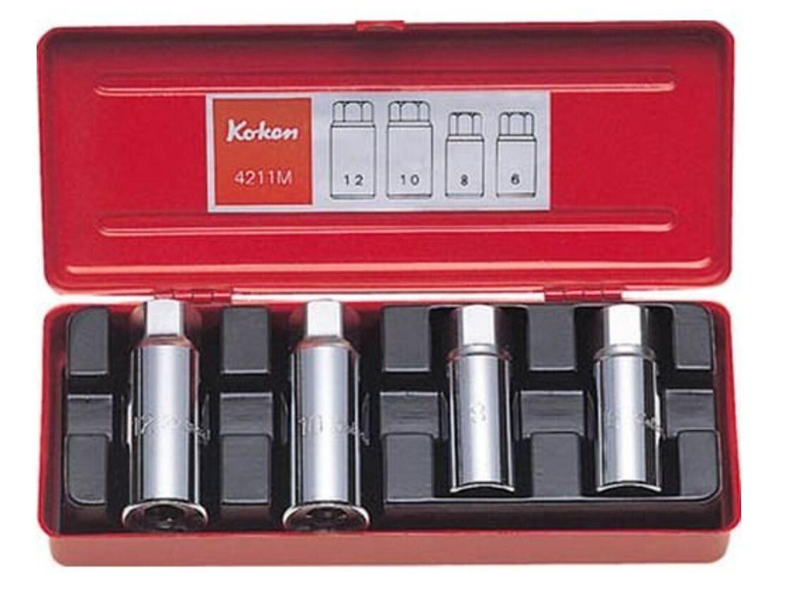 Koken   1 2 Zoll Ohrstecker Zieher Set (6 8 10 12mm)   4211M   Hergestellt in