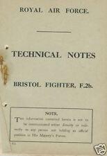 Bristol Fighter F.2 F.2b Biplane 1917 Manual Archive WWI WW1 Period VERY RARE