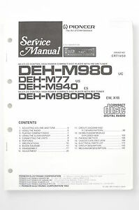 Pioneer deh m980 rds m77m940 original service manualguide image is loading pioneer deh m980 rds m77 m940 original service asfbconference2016 Gallery