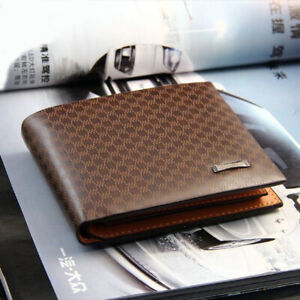 Men/'s PU Leather Bifold ID Card Holder Purse Wallet Billfold Handbag Slim Clutch