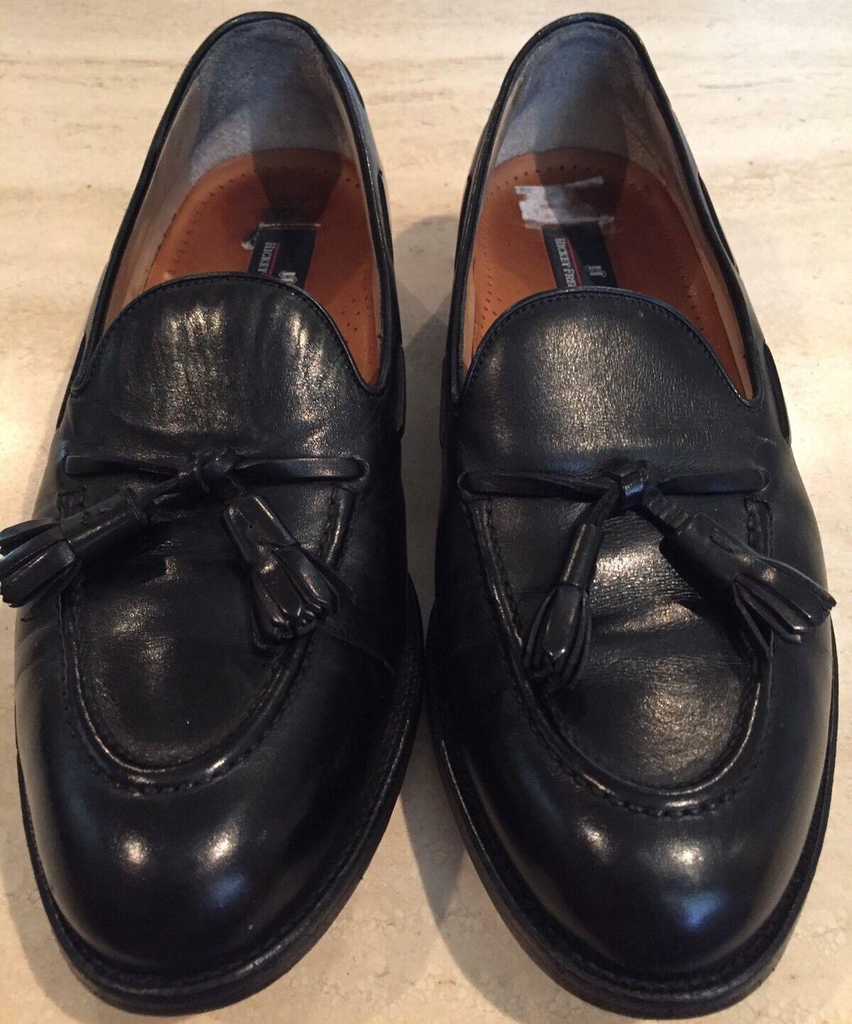 Hickey Freeman Negro cordobés Borla Mocasín Para hombres Zapatos D  Excelente
