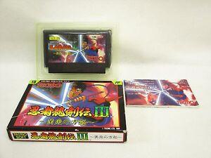 NINJA-RYUKENDEN-III-3-Item-REF-053-Famicom-Nintendo-Japan-Game-fc