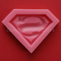 Superman Logo Superhero Silicone Mold, Fondant, Chocolate, Soap, Clay, Resin