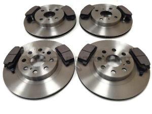 Discos-de-freno-delantero-y-trasero-y-Almohadillas-Set-Nuevo-Para-Toyota-MR2-1-8-VVTi-1999-2006