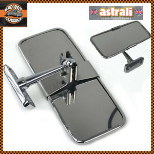 Stainless-Steel-UNIVERSAL-Rear-View-Mirror-Interior-CLASSIC-CAR
