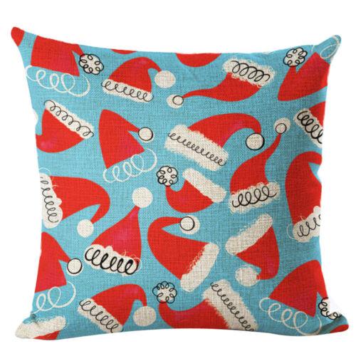 Noël Taie d/'Oreiller Rectangle Cushion Cover Silk Square Taie d/'Oreiller Taie d/'oreiller