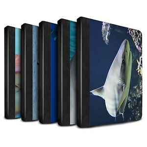 STUFF4 PU Leather Book Case/Cover for Apple iPad Air 2/Marine Wildlife