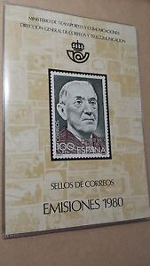 1980-LIBRO-OFICIAL-DE-CORREOS-ESPANA-COMPLETO-OFERTA-ESPECIAL-Y-UNICA