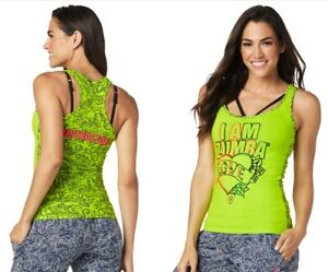Zumba-Celebrate-Love-INSTRUCTOR-Racerback-Tank-Top-Green-sz-XS-Small-XXL