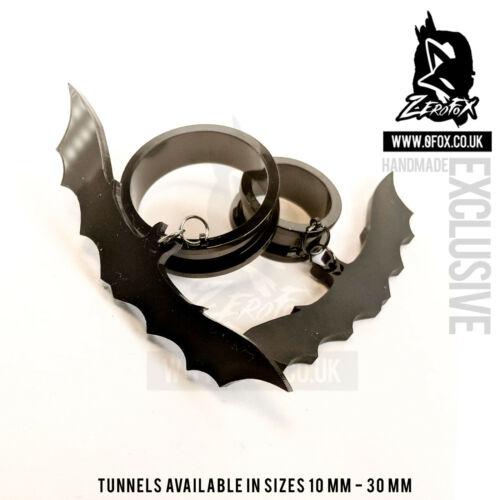 Túnel De Carne Túnel Acero Halloween Bat Enchufe 10-30 mm Gótico