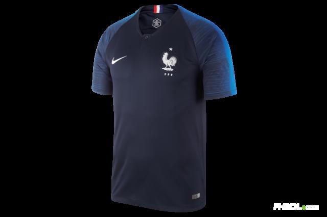 Damen T-Shirt Frankreich 11 Blau Futbol WM 2018