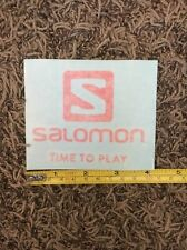 "Salomon Sticker Decal Red Aprox 4""x3"""