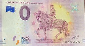 BILLET-0-EURO-CHATEAU-DE-BLOIS-FRANCE-2018-NUMERO-5000-DERNIER-BILLET
