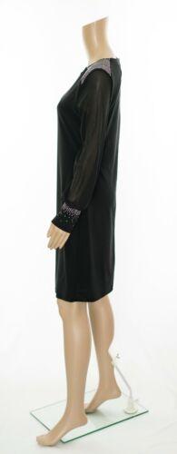 ex Wallis Long Sleeve Jewell Embellished Swing Dress