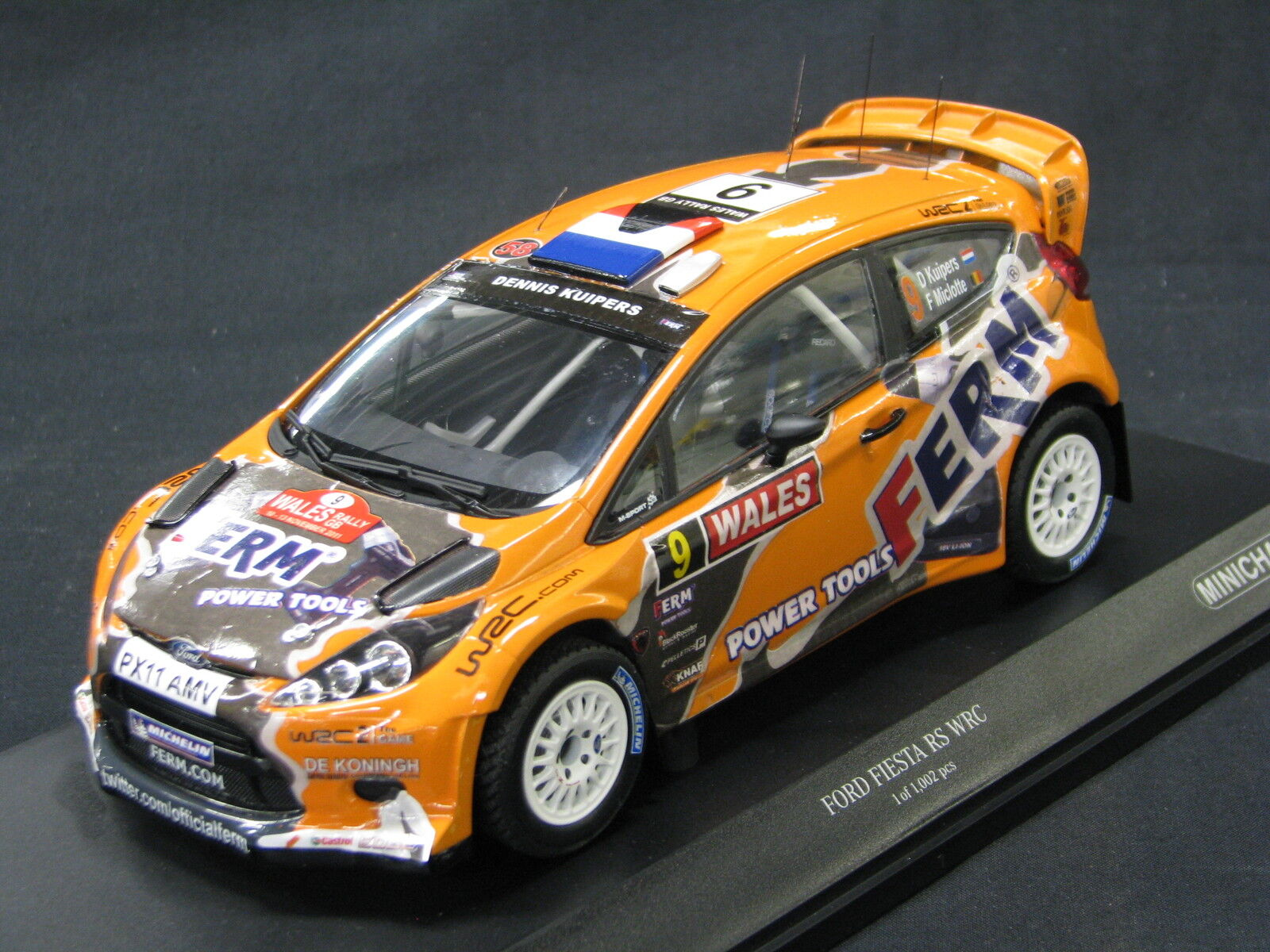 Minichamps Ford Fiesta RS WRC 2011 1 18  9 Kuipers   Miclotte Wales Rally (MCC)