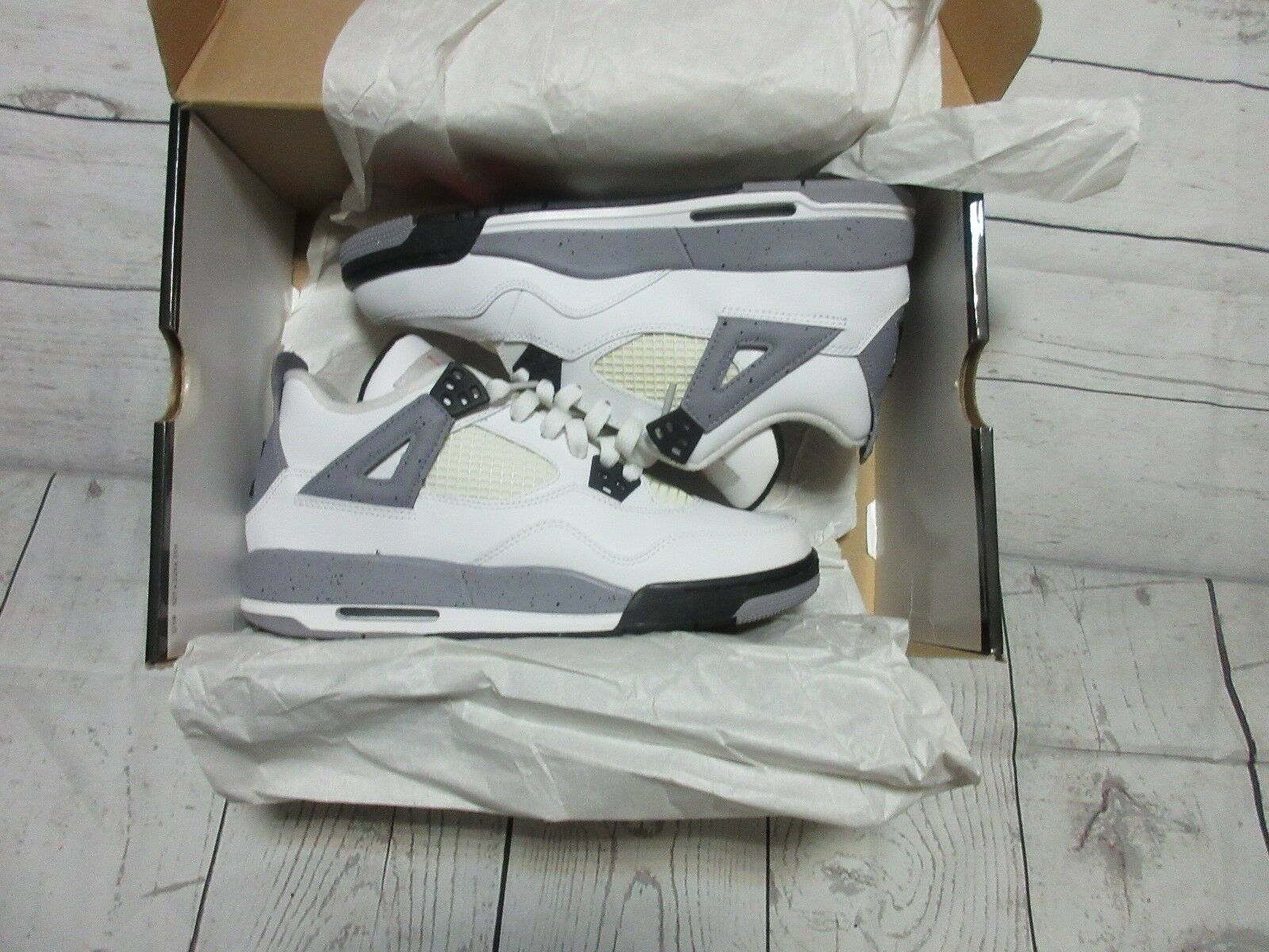 Nike Air Jordan White Cement 4 IV 2012 Size 7Y