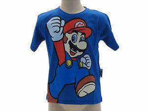 T-Shir-Maglia-Maglietta-Super-Mario-Bros-Nintendo-4-varianti-Originale-100