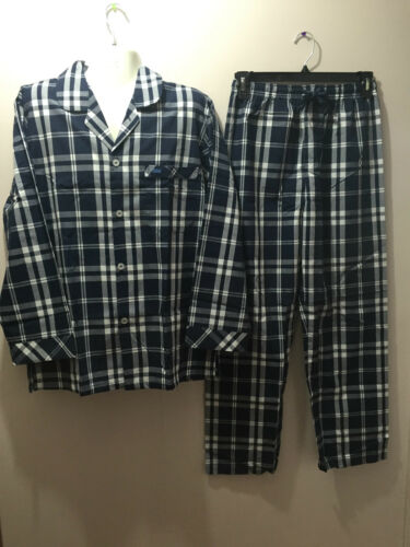 Navy Sz Bnwt Rrp Check Pajamas X Abbigliamento Mens Large Long 60 Co Coast bianco AZqU1Za