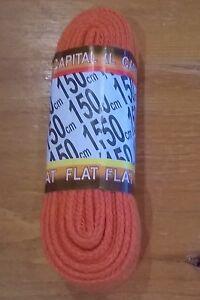 Orange-Shoe-Boot-Trainer-Laces-150-cm-Flat-LONG-150cm