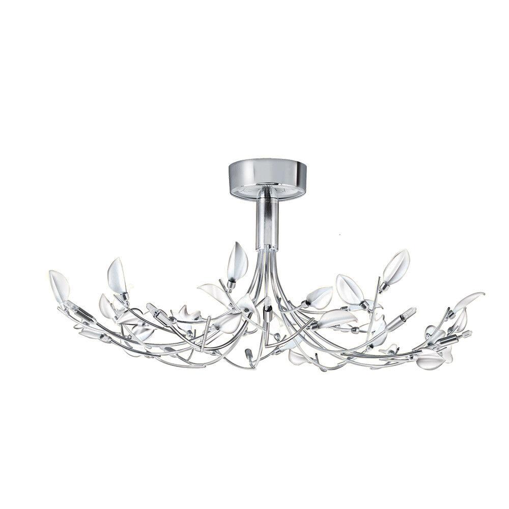 light Wisteria 10 Lumières Blanc Chrome semi-encastré plafonnier en en plafonnier NEUF c82a25