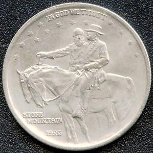 1925-USA-Commemorative-Half-Dollar-Stone-Mountain-12-5-Grams-900-Silver