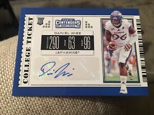 size 40 28f0d f557b Details about 2019 Contenders Draft Picks DANIEL WISE Auto Rookie Ticket  Dallas SP Cowboys