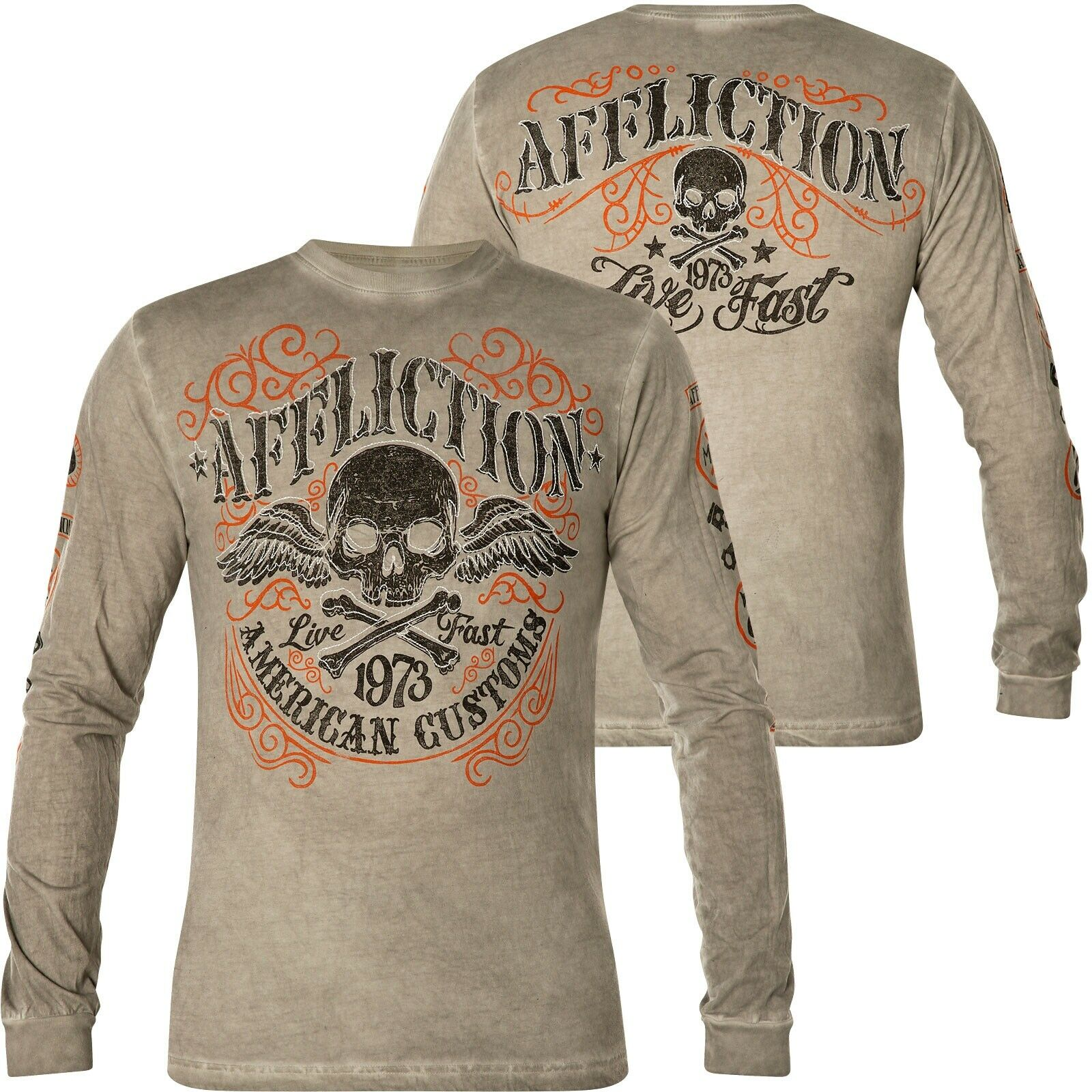 Affliction Thermal Speed Trap Grey